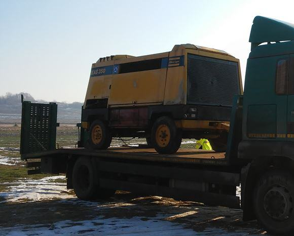 Transport kompresora na większe odległości.